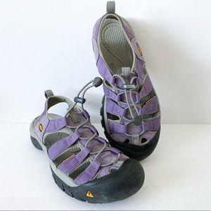 Keen purple waterproof sandals